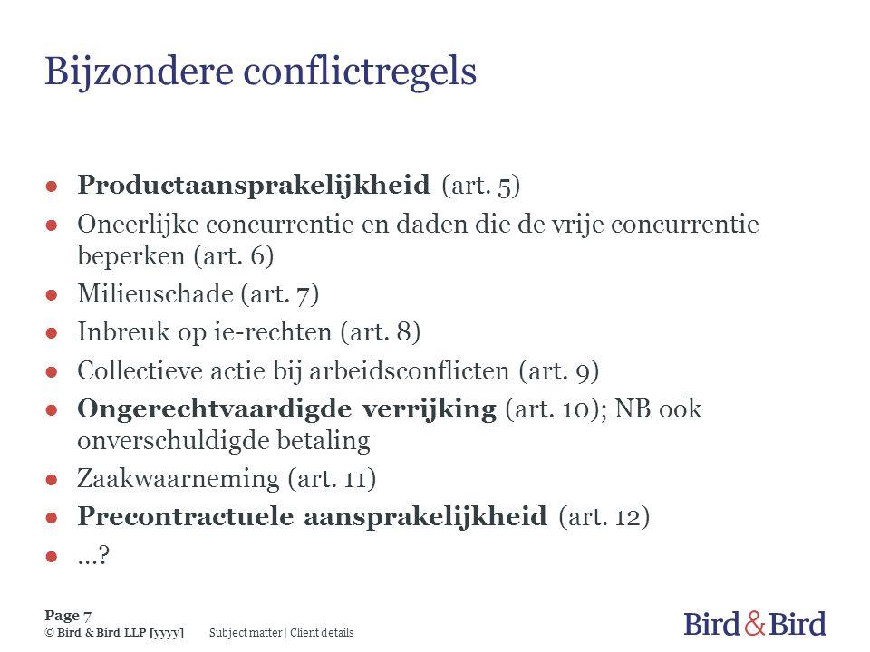 Bijzondere conflictregels