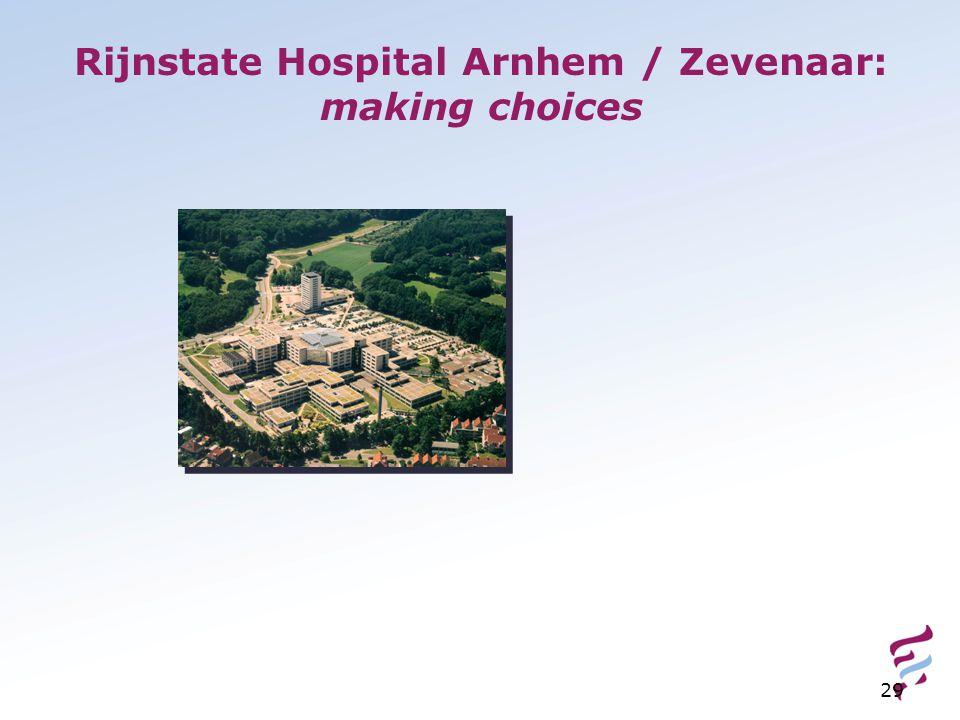 Rijnstate Hospital Arnhem / Zevenaar: making choices