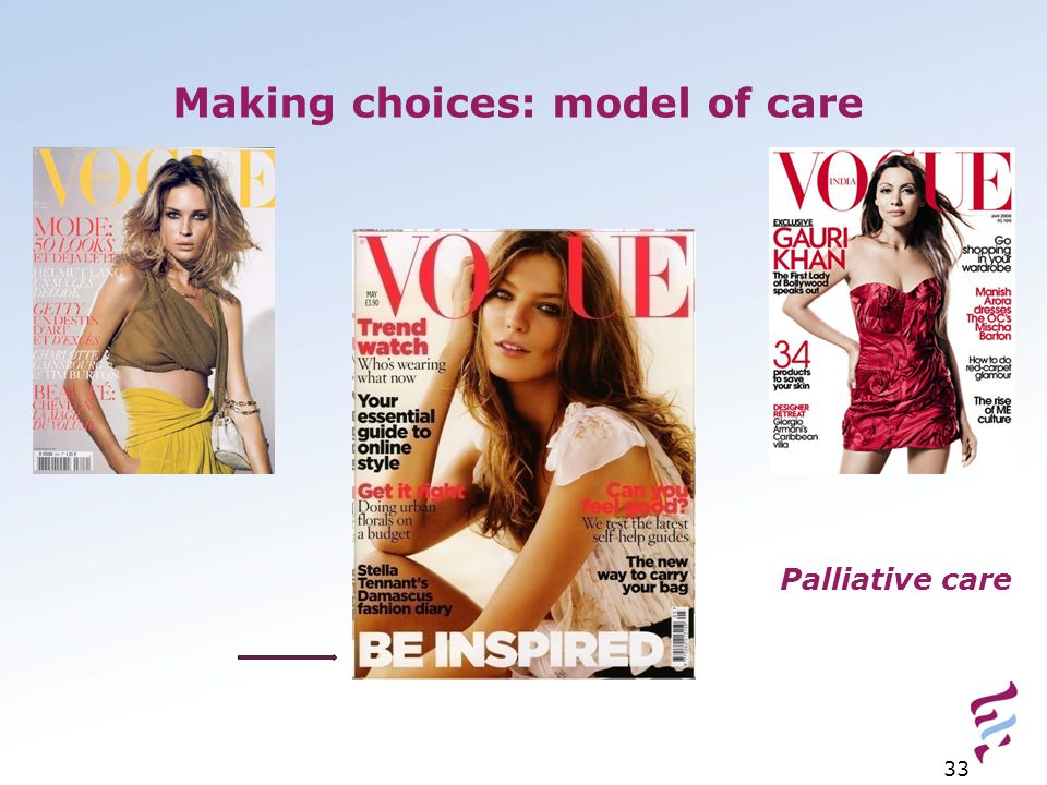 Making choices: model of care