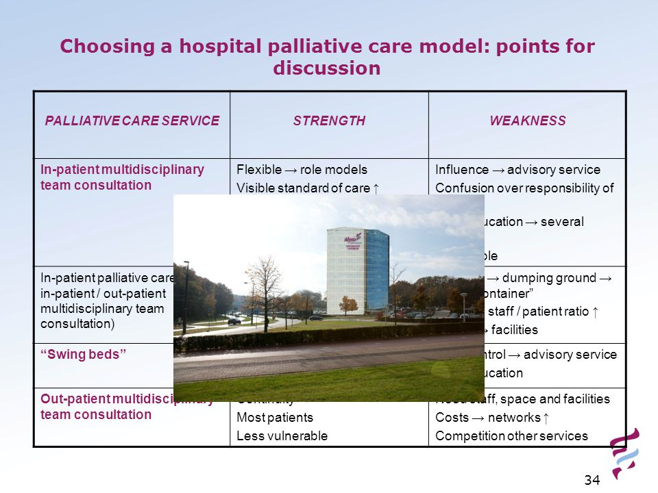Choosing a hospital palliative care model: points for discussion