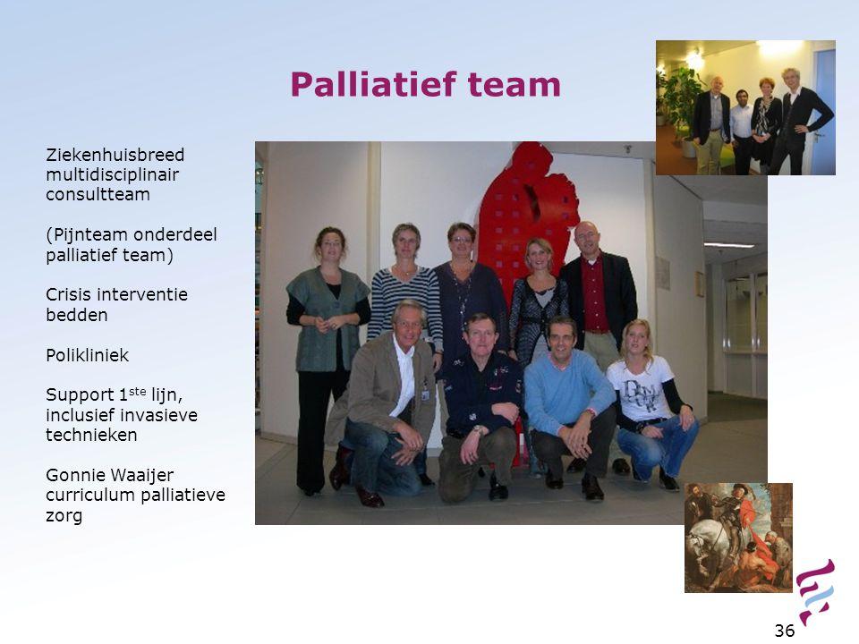 Palliatief team Ziekenhuisbreed multidisciplinair consultteam