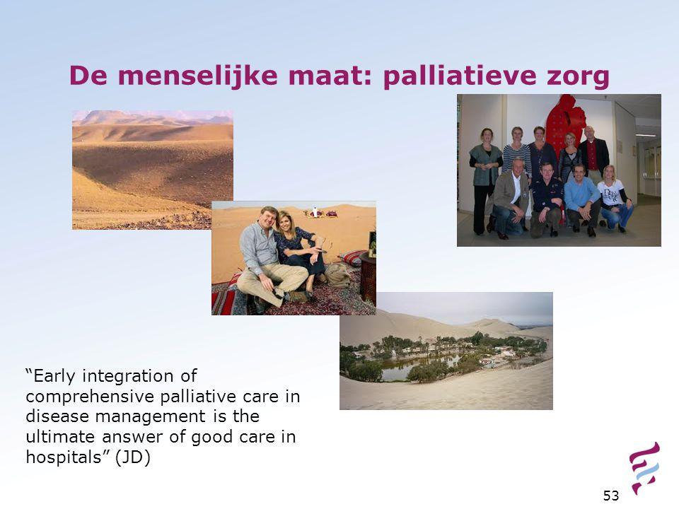 De menselijke maat: palliatieve zorg