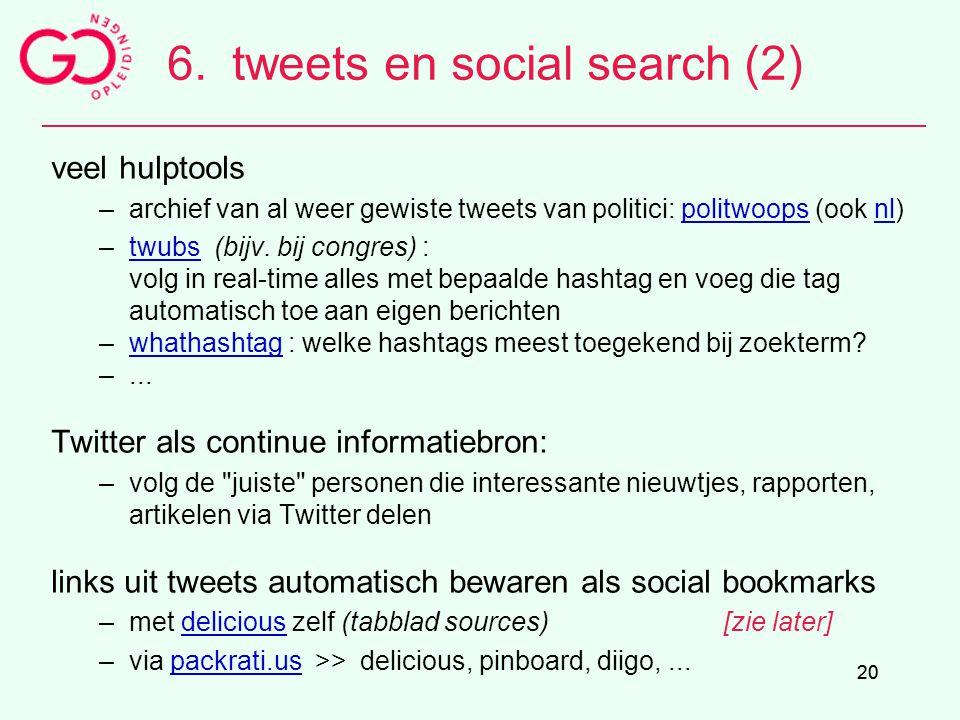 6. tweets en social search (2)