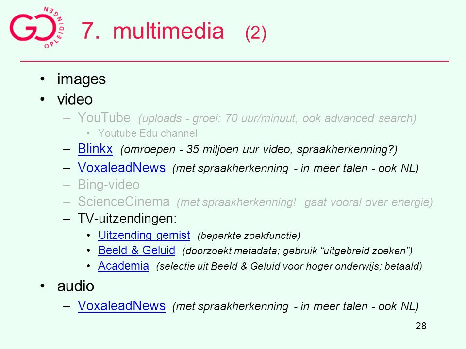 7. multimedia (2) images video audio