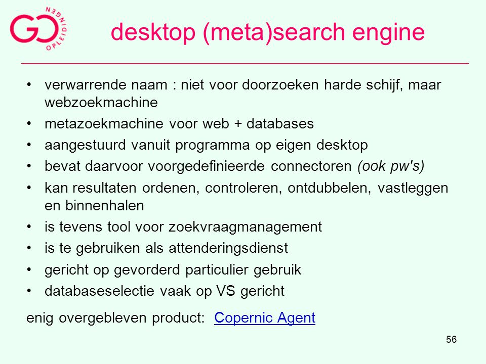 desktop (meta)search engine