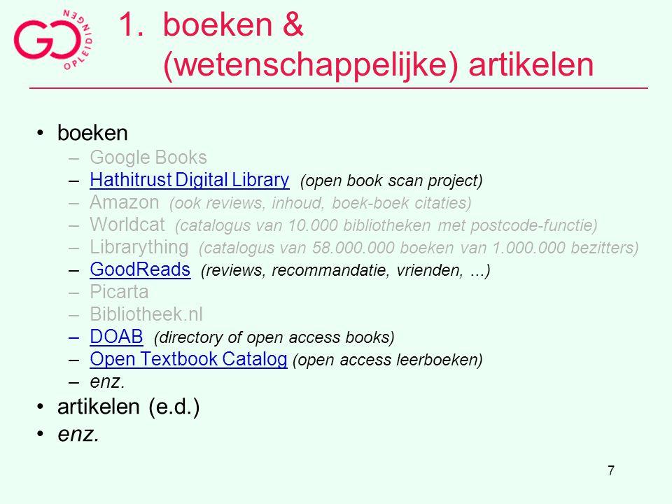 boeken & (wetenschappelijke) artikelen