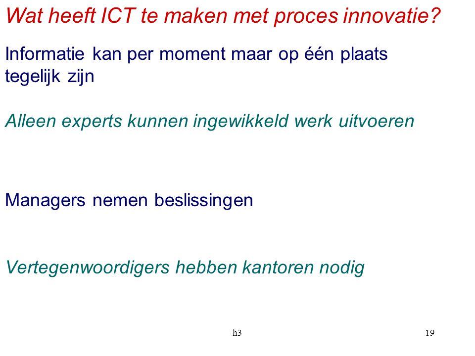 Wat heeft ICT te maken met proces innovatie