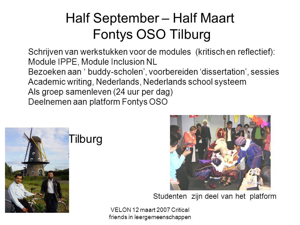 Half September – Half Maart Fontys OSO Tilburg