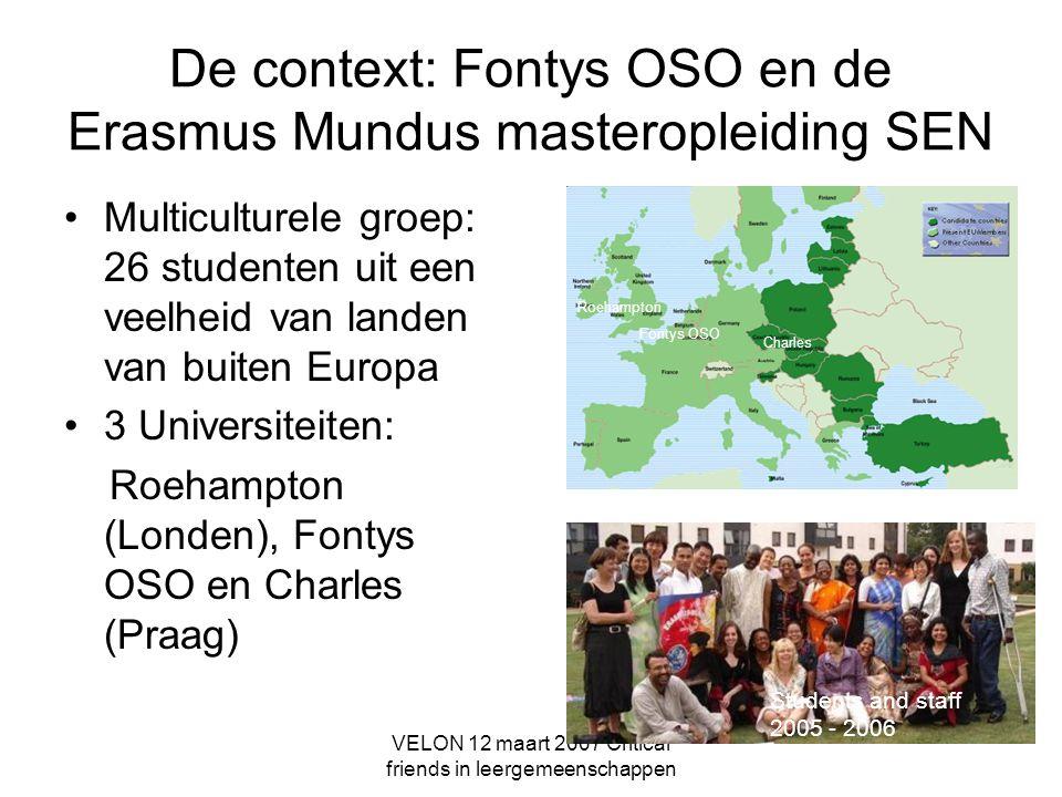 De context: Fontys OSO en de Erasmus Mundus masteropleiding SEN