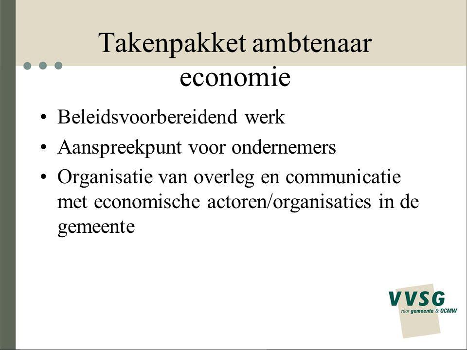 Takenpakket ambtenaar economie