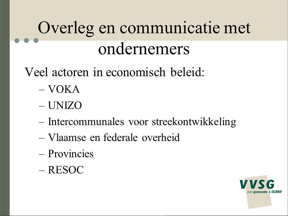 Overleg en communicatie met ondernemers