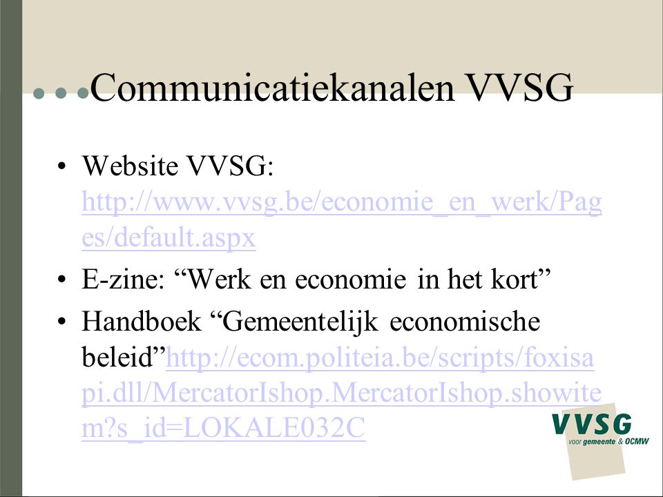 Communicatiekanalen VVSG