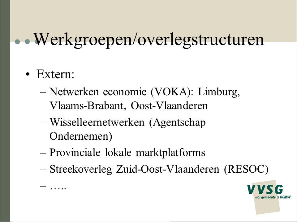 Werkgroepen/overlegstructuren