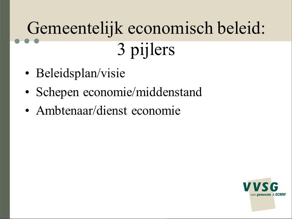 Gemeentelijk economisch beleid: 3 pijlers
