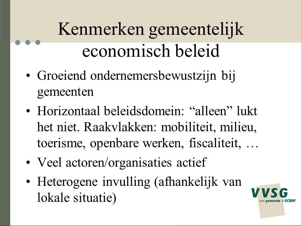 Kenmerken gemeentelijk economisch beleid