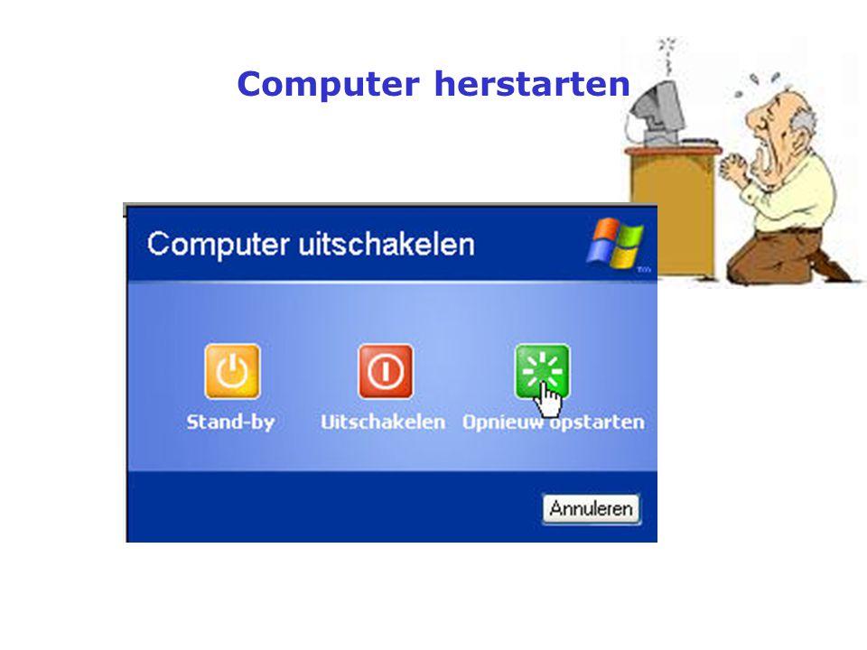 Computer herstarten