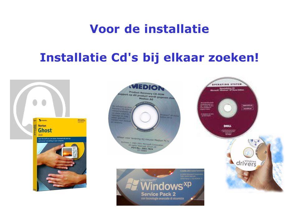 Installatie Cd s bij elkaar zoeken!