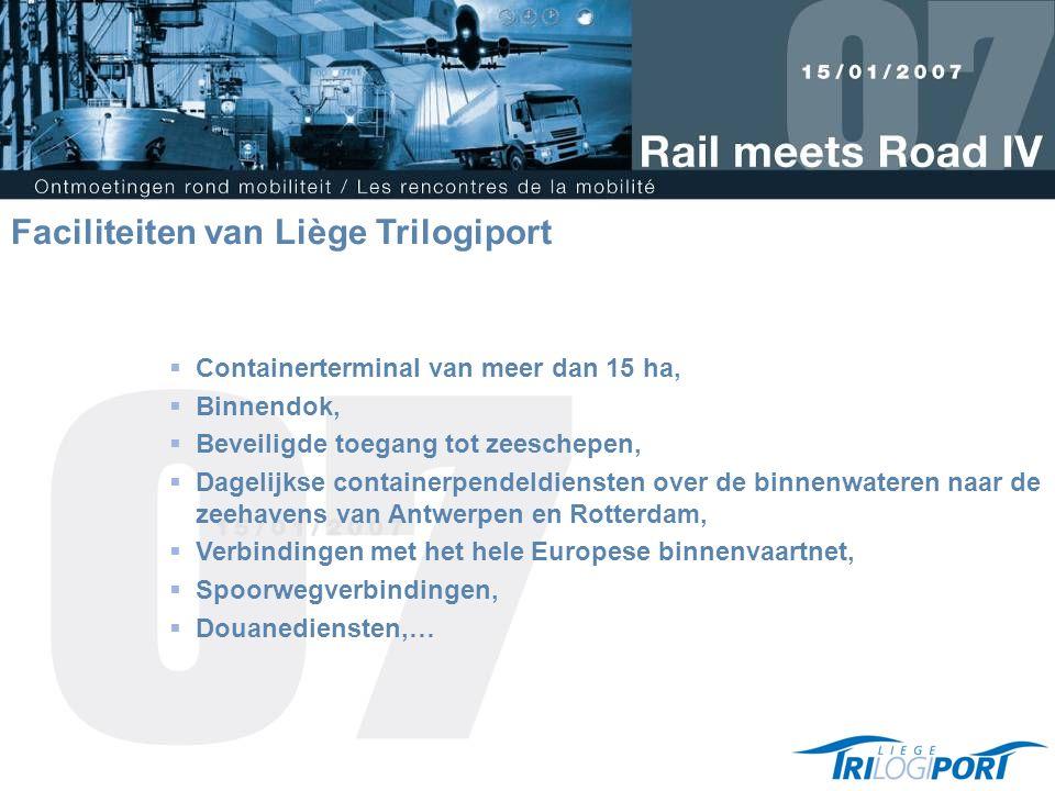 Faciliteiten van Liège Trilogiport