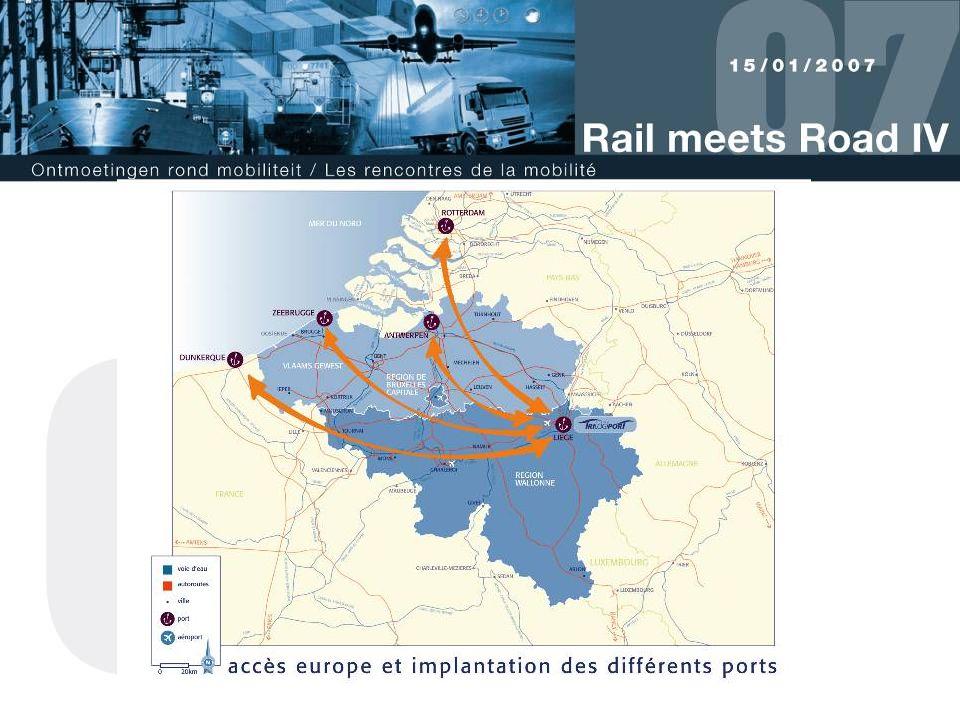 Wallonië en meer bepaald Luik bekleedt een sleutelpositie in het Europese netwerk, zowel in oostwestelijke als in noordzuidelijke richting. Bijgaande kaart laat alle mogelijkheden ervan zien.