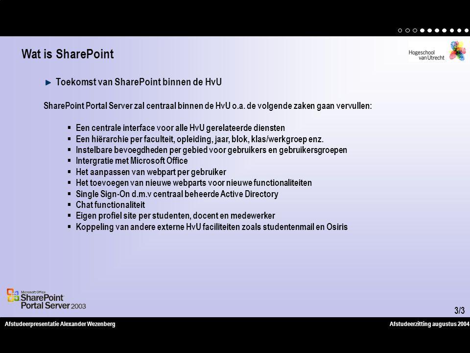 Wat is SharePoint Toekomst van SharePoint binnen de HvU
