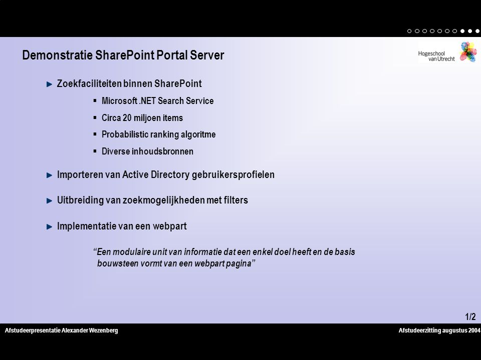 Demonstratie SharePoint Portal Server