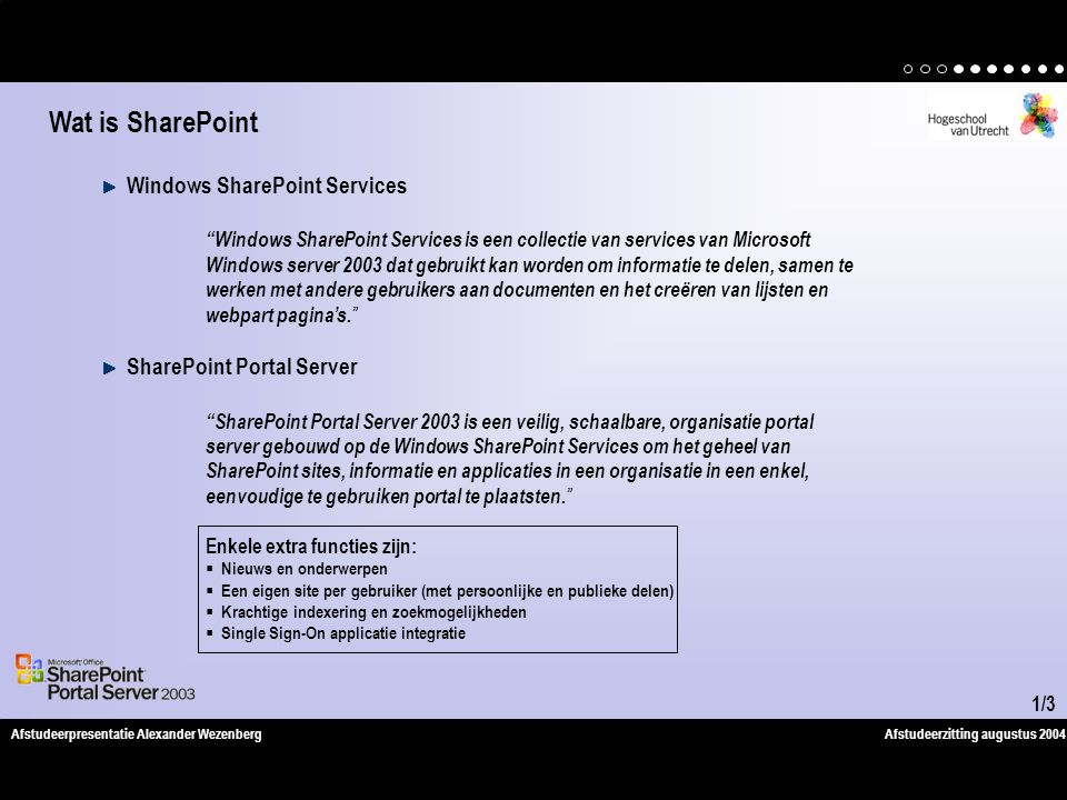 Wat is SharePoint Windows SharePoint Services SharePoint Portal Server