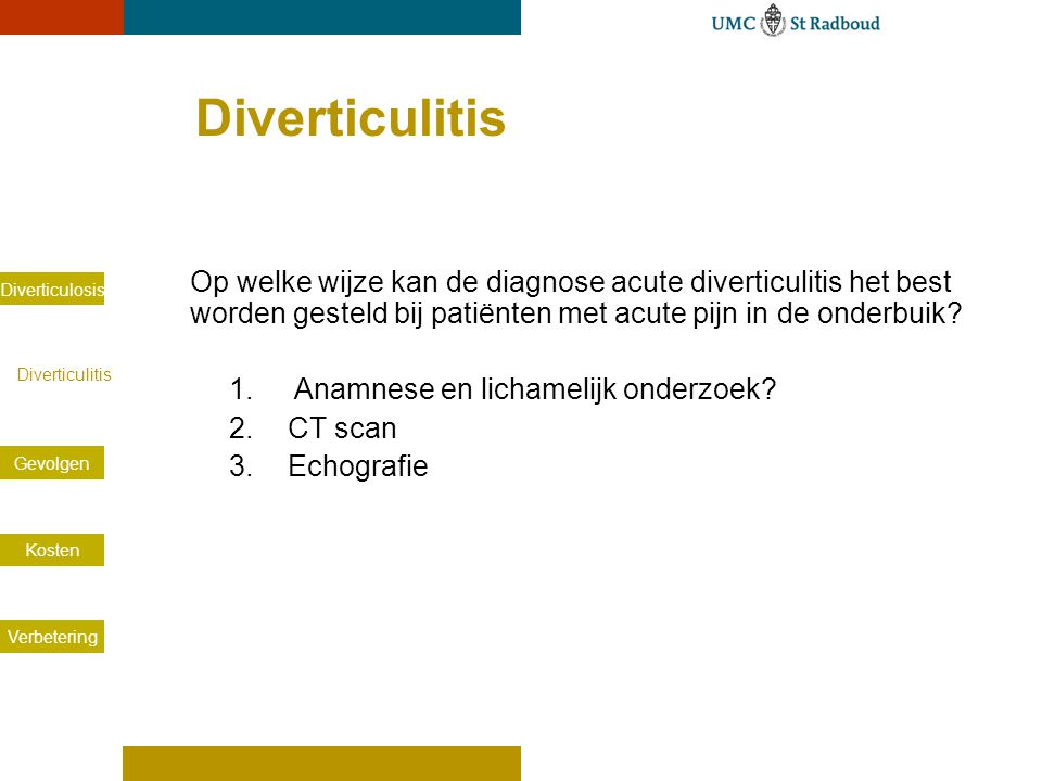 Diverticulitis CT-scan