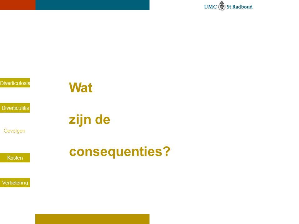 Aantal opnames voor divertikelziekte in Nederland