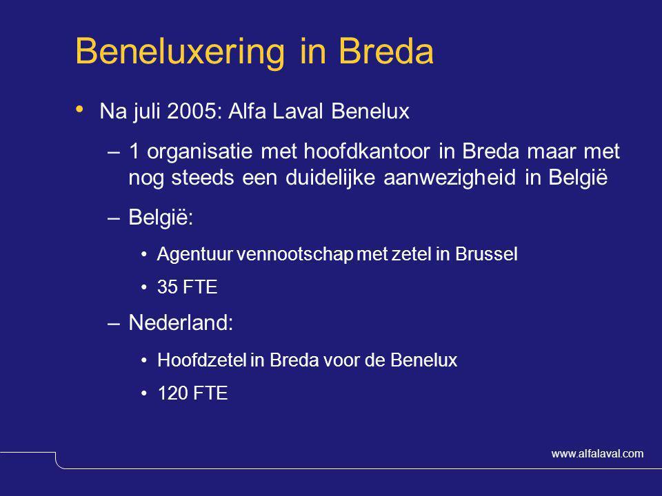 Beneluxering in Breda Na juli 2005: Alfa Laval Benelux