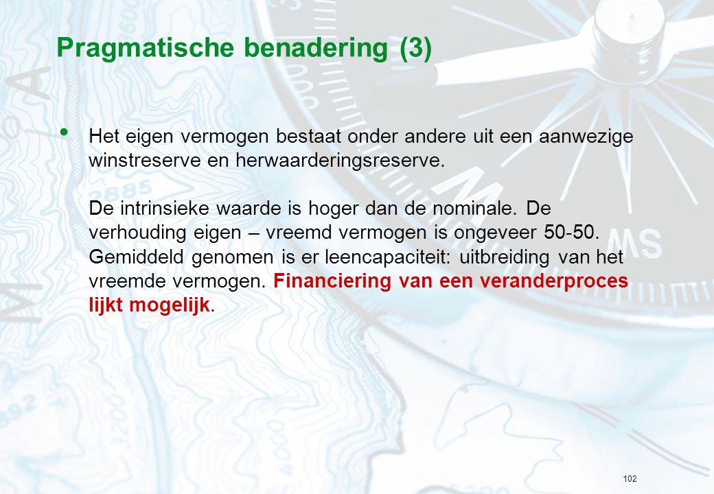 Pragmatische benadering (3)