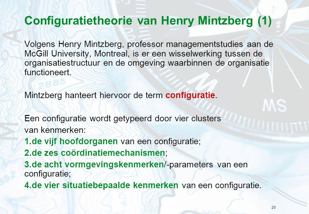 Configuratietheorie van Henry Mintzberg (1)
