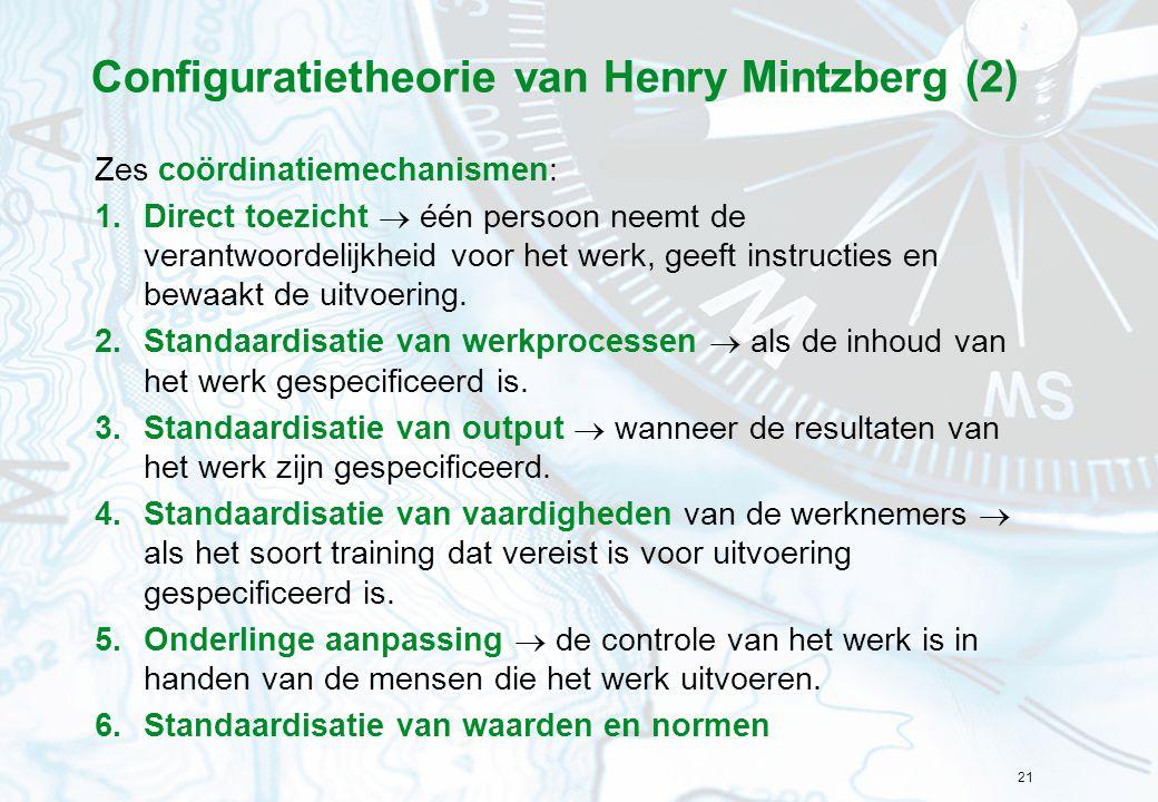 Configuratietheorie van Henry Mintzberg (2)