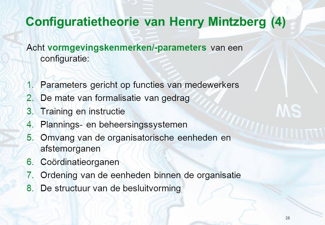 Configuratietheorie van Henry Mintzberg (4)