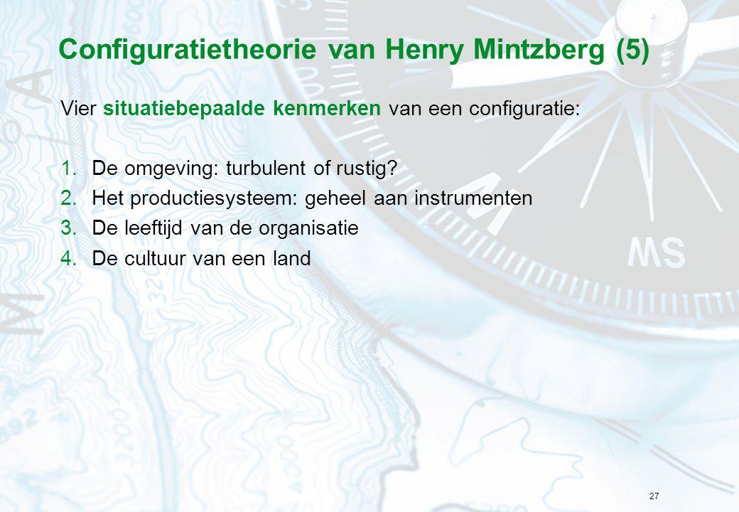 Configuratietheorie van Henry Mintzberg (5)