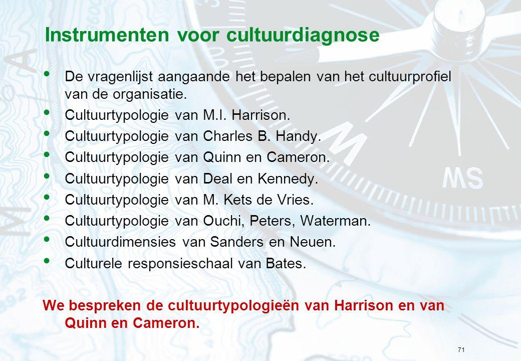 Instrumenten voor cultuurdiagnose