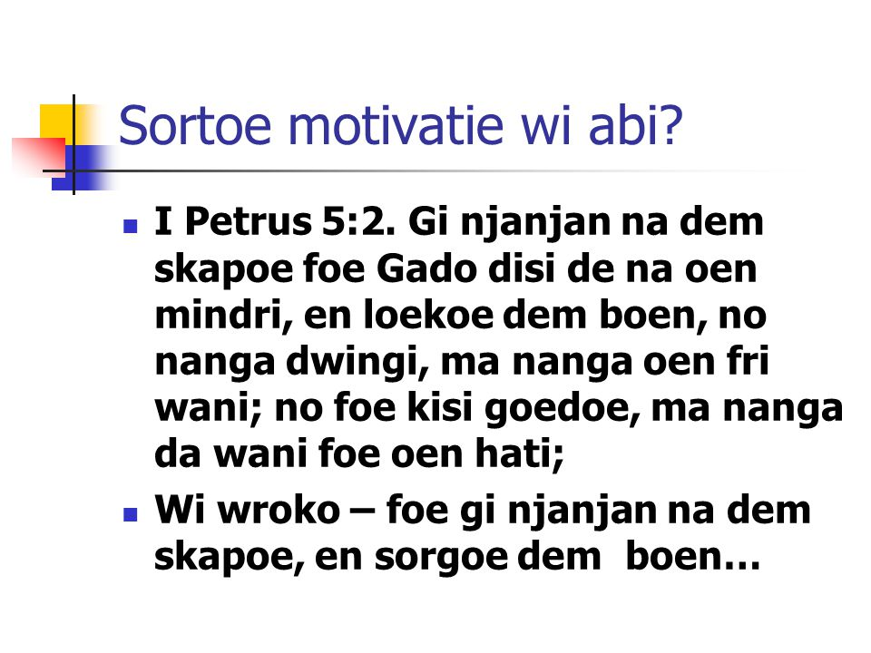 Sortoe motivatie wi abi