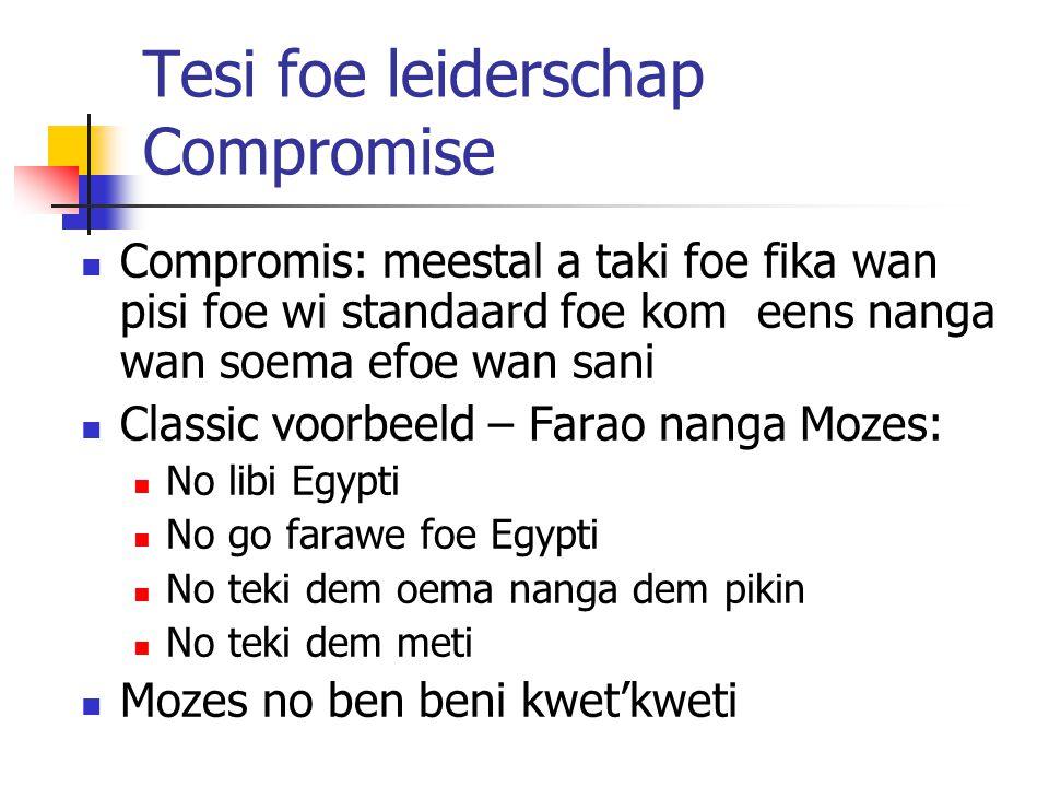 Tesi foe leiderschap Compromise