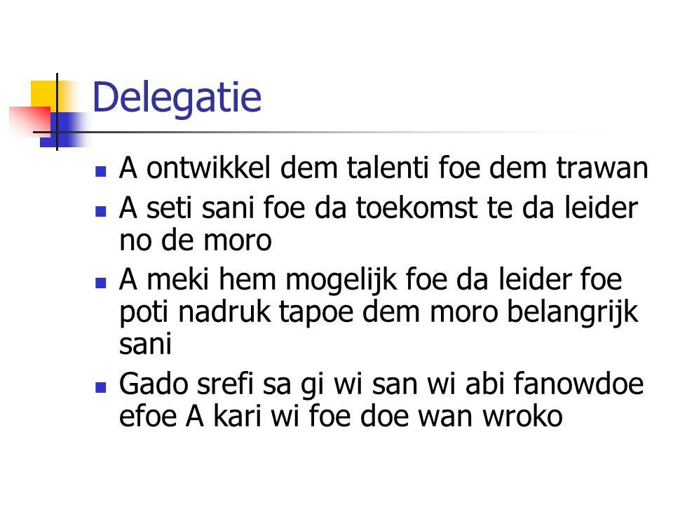 Delegatie A ontwikkel dem talenti foe dem trawan