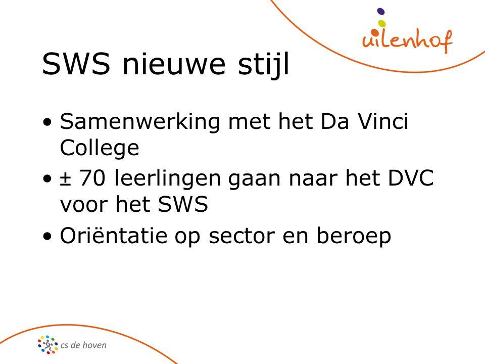SWS nieuwe stijl Samenwerking met het Da Vinci College