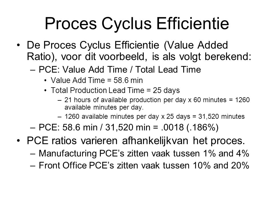 Proces Cyclus Efficientie