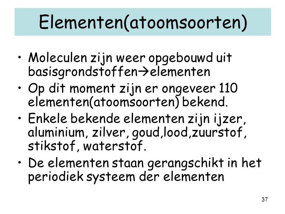 Elementen(atoomsoorten)