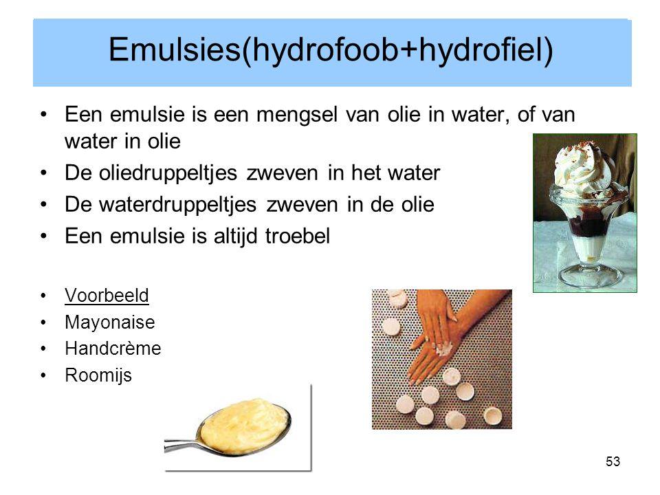 Emulsies(hydrofoob+hydrofiel)