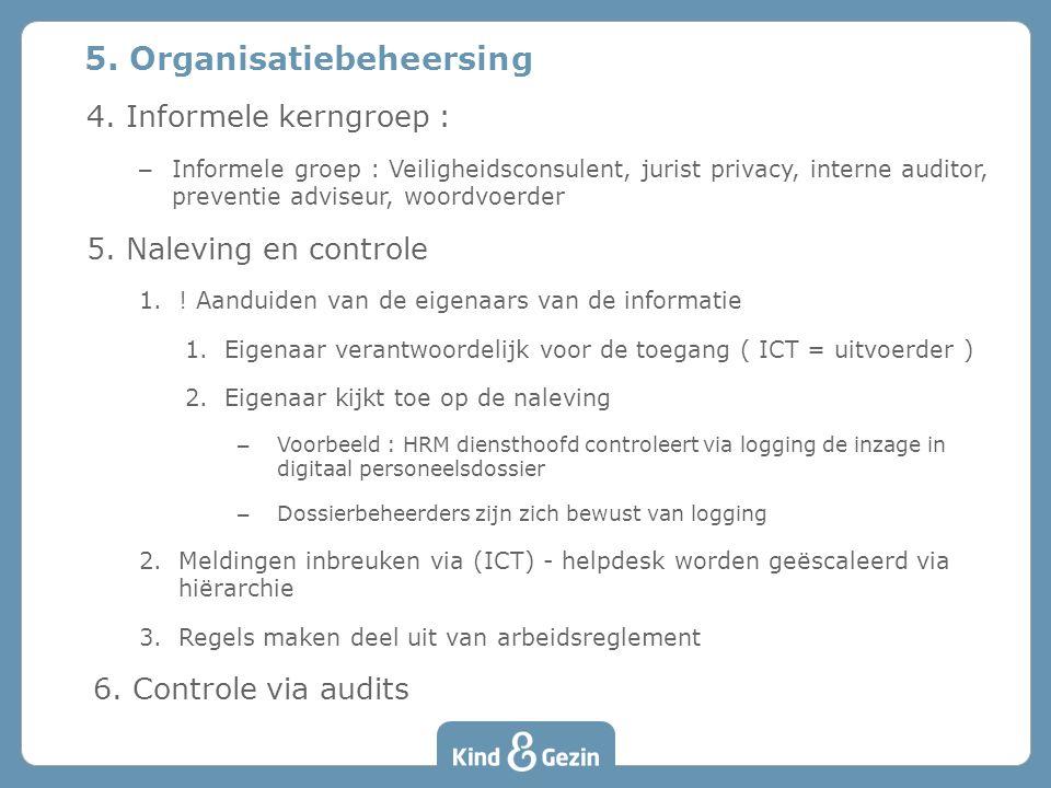 5. Organisatiebeheersing