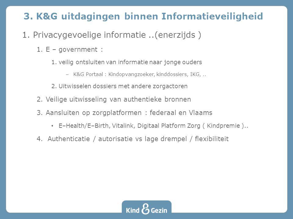3. K&G uitdagingen binnen Informatieveiligheid