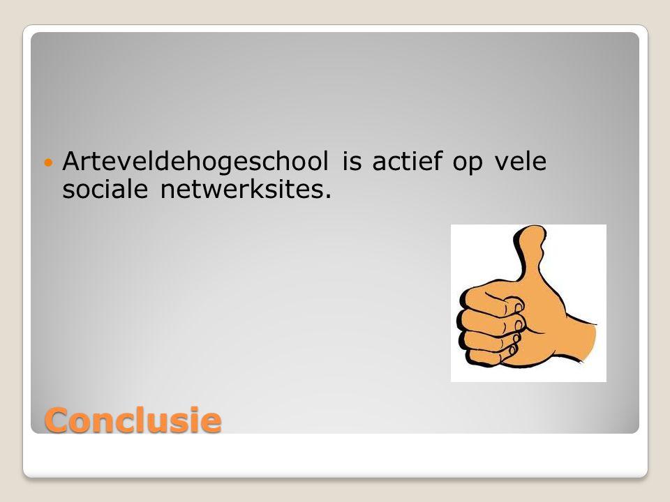 Arteveldehogeschool is actief op vele sociale netwerksites.