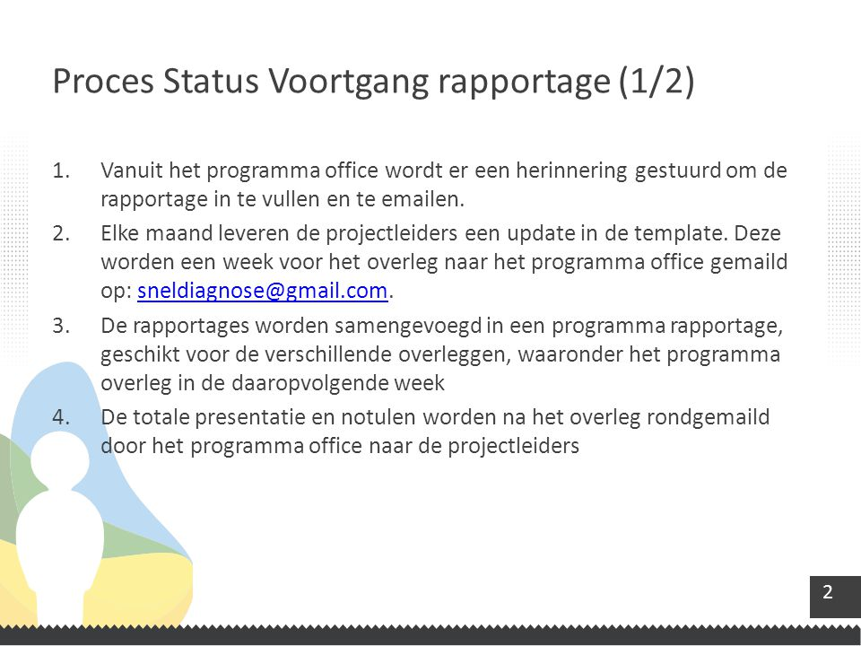 Proces Status Voortgang rapportage (1/2)