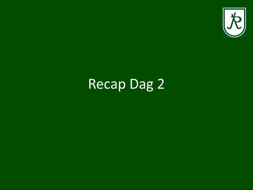 Recap Dag 2