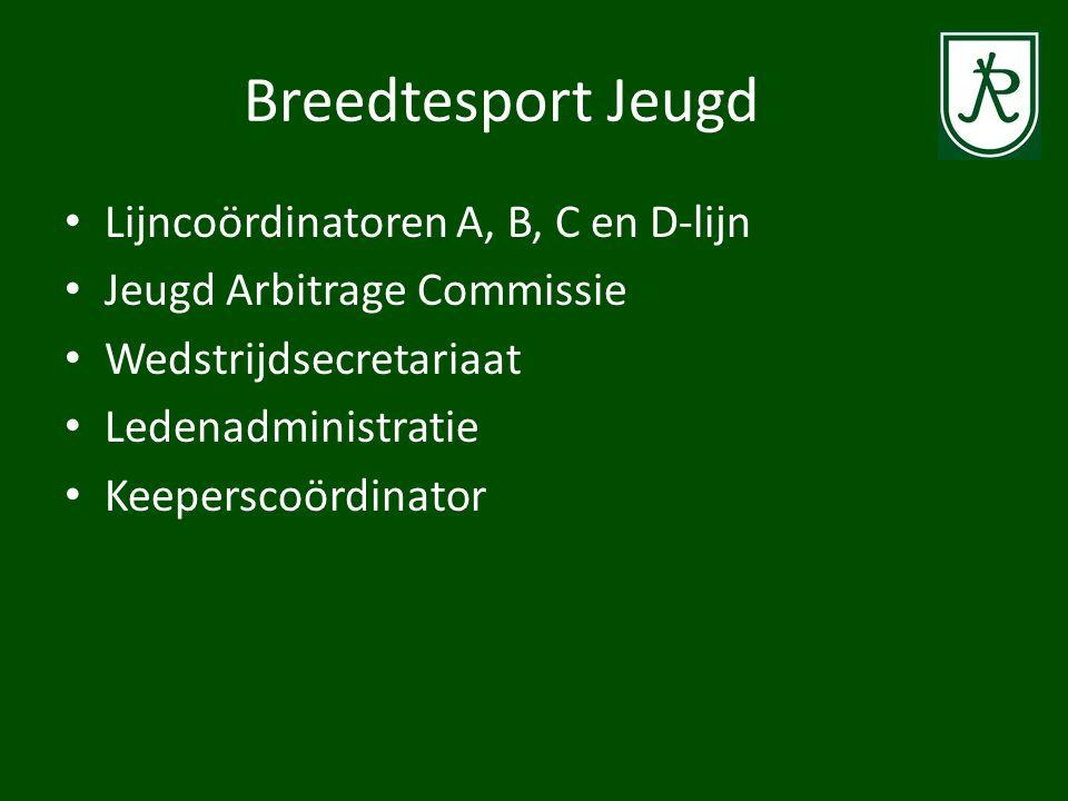Breedtesport Jeugd Lijncoördinatoren A, B, C en D-lijn