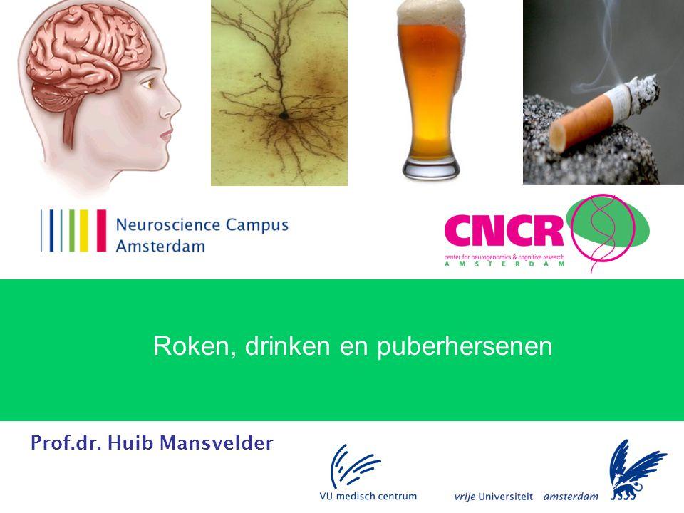 Roken, drinken en puberhersenen