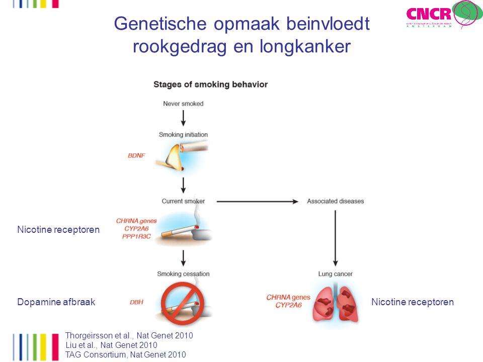 Genetische opmaak beinvloedt rookgedrag en longkanker